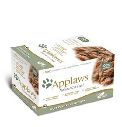 Picture of Applaws Cat Pots Fish Multi 8 x 60g